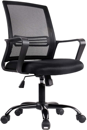 Office Chair Swivel Desk Mesh Task Chair Armrests