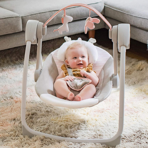 Ingenuity Comfort Portable Swing Flora Compact Swing