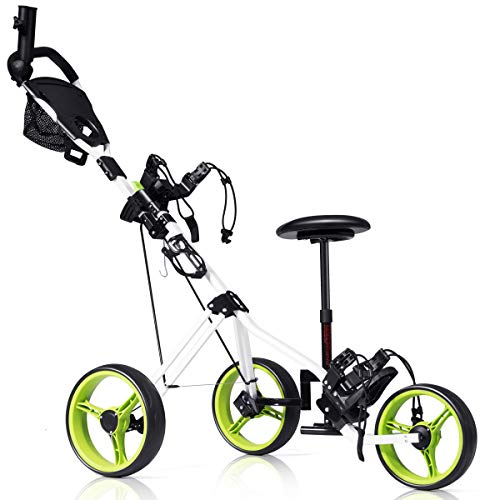 Tangkula Golf Push Cart with Seat