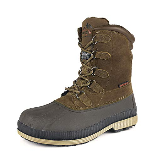 NORTIV 170390 Insulated Waterproof Snow Boot for Men