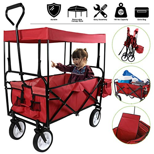 Flex HQ Collapsible Wagon Cart for Kids
