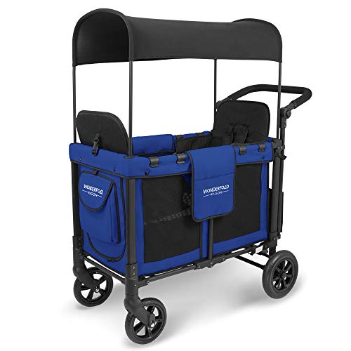 WonderFold Push Two Passenger Double Folding Cart