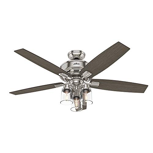 Hunter Bennett Indoor Ceiling Fan with Light and Remote