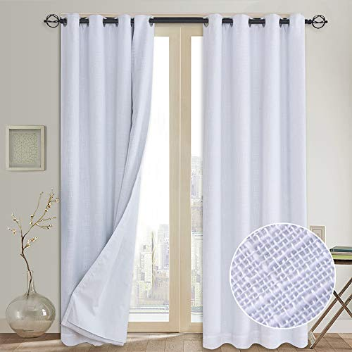 Primitive Linen Blackout Curtains with Liner