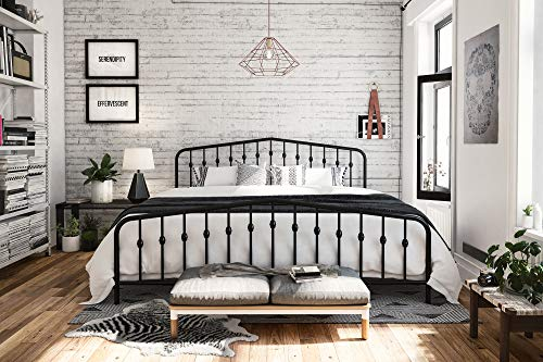 Novogratz Bushwick Metal Bed Frame with Headboard and Footboard
