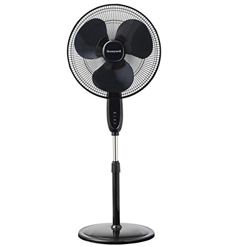 Honeywell Double Blade Pedestal Black Fan with Remote