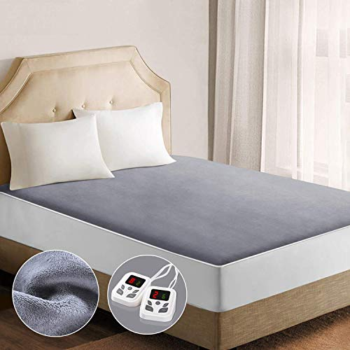 Under Blanket Dual Control Heated Mattress Pad