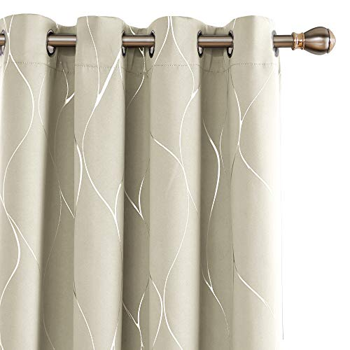 Deconovo Printed Thermal Insulated Blackout Curtains