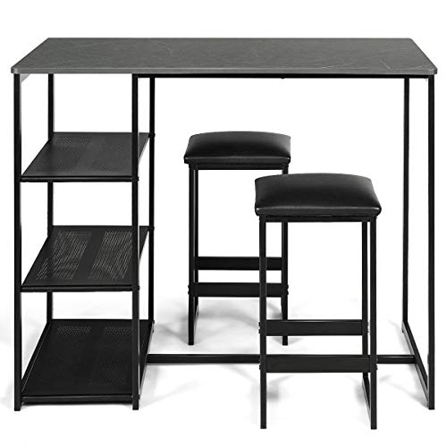 COSTWAY Kitchen Set with Two Chairs