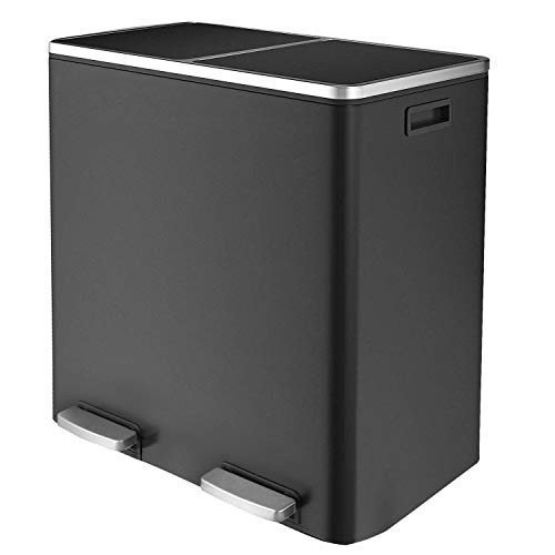 Hembor Dual Compartment Trash Can