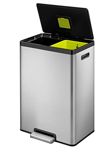 EKO EcoCasa Dual Compartment Step Trash Can