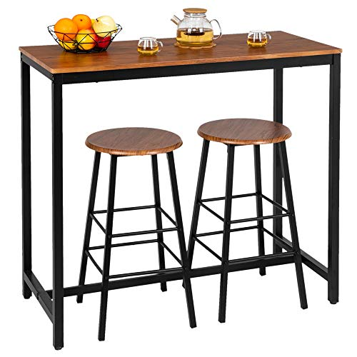 Bonnlo Counter Height Kitchen Bar Table Set