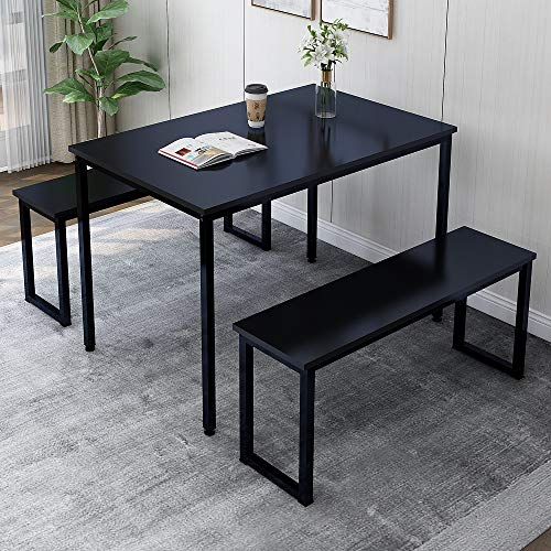 Rhomtree Dining Set Table with Two Benches