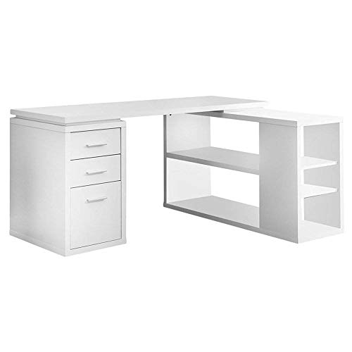 Monarch L-Shaped Desk with Bookshelf