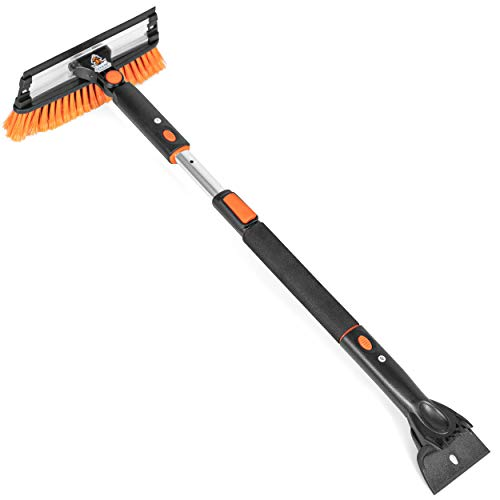 Snow Moover Extendable Snow Brush with Scraper