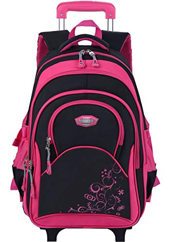 COOFIT Rolling Backpack for Girls