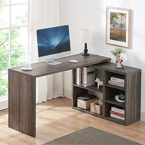 HSH Computer Desk with Cabinet Drawer